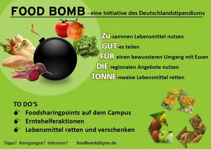 plakat foodbomb